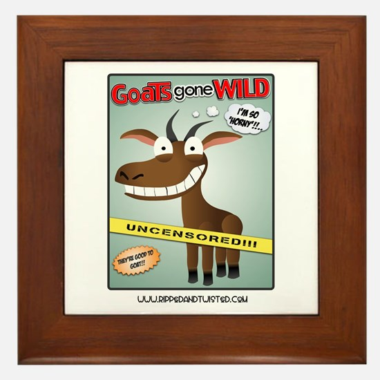 Goats Gone Wild Framed Tile