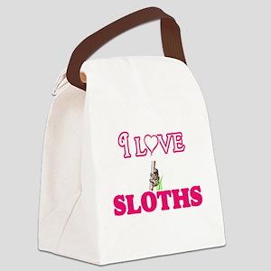 I Love Sloths Canvas Lunch Bag