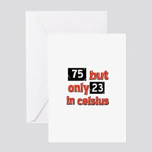75 year old designs Greeting Card