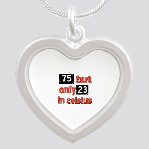 75 year old designs Silver Heart Necklace
