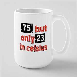75 year old designs Large Mug