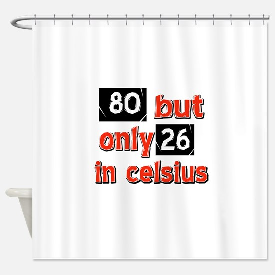 80 year old designs Shower Curtain