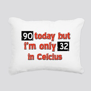 90 year old designs Rectangular Canvas Pillow