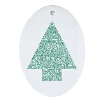 Pine Tree Oval Ornament