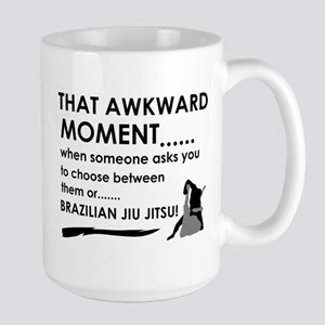 Cool Brazilian Jiu Jitsu designs Large Mug