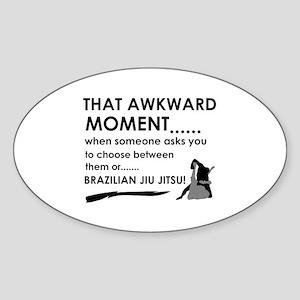 Cool Brazilian Jiu Jitsu designs Sticker (Oval)