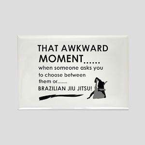 Cool Brazilian Jiu Jitsu designs Rectangle Magnet