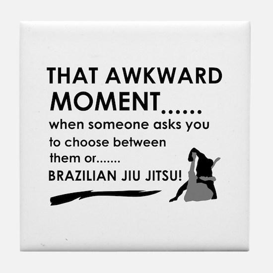 Cool Brazilian Jiu Jitsu designs Tile Coaster