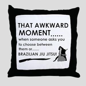 Cool Brazilian Jiu Jitsu designs Throw Pillow
