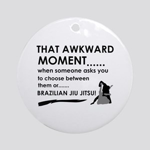 Cool Brazilian Jiu Jitsu designs Ornament (Round)