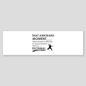 Cool Escrima designs Sticker (Bumper)