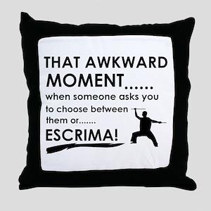 Cool Escrima designs Throw Pillow
