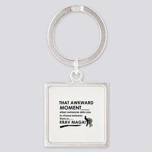 Cool Krav Maga designs Square Keychain