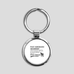 Cool Krav Maga designs Round Keychain