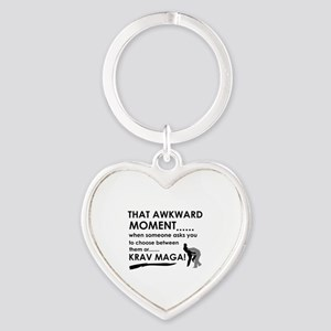 Cool Krav Maga designs Heart Keychain