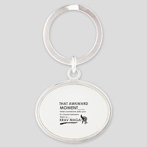 Cool Krav Maga designs Oval Keychain