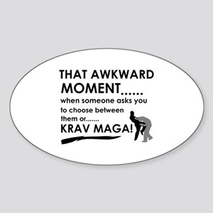 Cool Krav Maga designs Sticker (Oval)