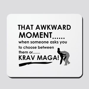 Cool Krav Maga designs Mousepad