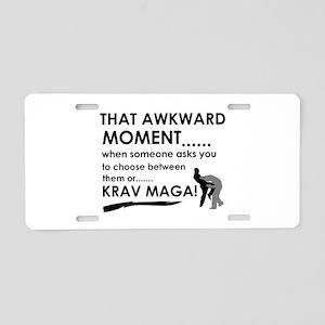Cool Krav Maga designs Aluminum License Plate