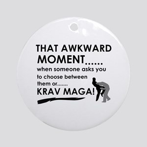Cool Krav Maga designs Ornament (Round)