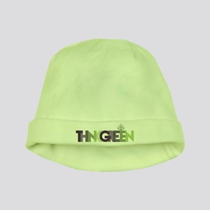 Think Green Text baby hat