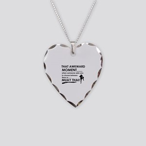 Cool Muay Thai designs Necklace Heart Charm