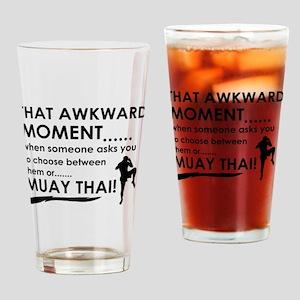 Cool Muay Thai designs Drinking Glass