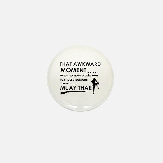 Cool Muay Thai designs Mini Button
