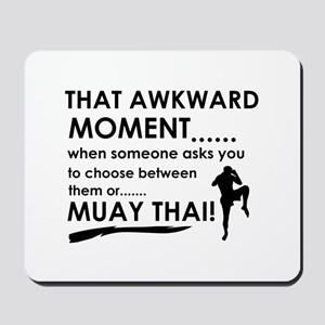 Cool Muay Thai designs Mousepad