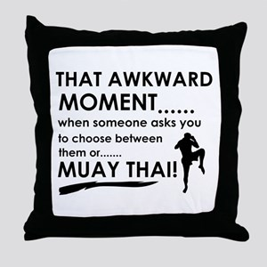 Cool Muay Thai designs Throw Pillow