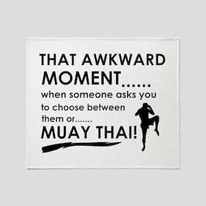 Cool Muay Thai designs Throw Blanket