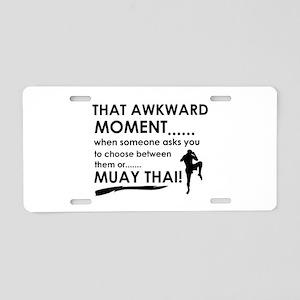 Cool Muay Thai designs Aluminum License Plate