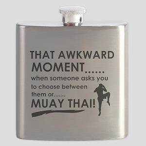 Cool Muay Thai designs Flask