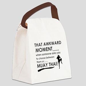 Cool Muay Thai designs Canvas Lunch Bag
