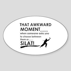 Cool Silat designs Sticker (Oval)