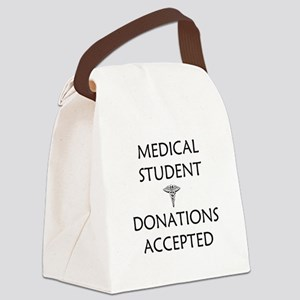 Med Student - Donations Accepted Canvas Lunch Bag