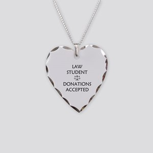 Law Student - Donations Accepted Necklace Heart Ch