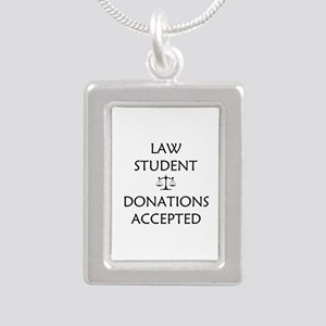 Law Student - Donations Accepted Silver Portrait N
