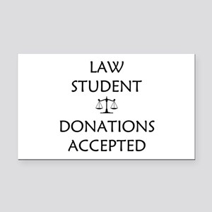 Law Student - Donations Accepted Rectangle Car Mag