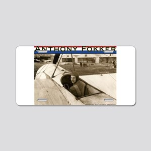 Anthony Fokker Aluminum License Plate