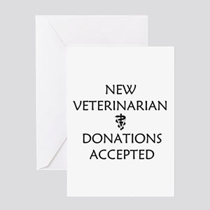 New Veterinarian - Donations Accepted Greeting Car