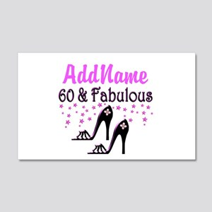 60 & A SHOE QUEEN 20x12 Wall Decal
