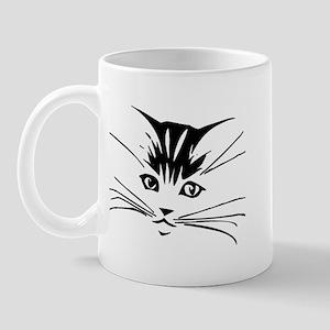 Black Cat Face Mug