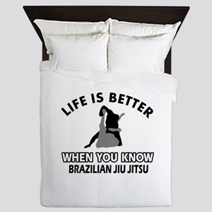 Brazilian Jiu Jitsu Vector designs Queen Duvet