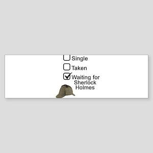 Waiting for Sherlock Bumper Sticker