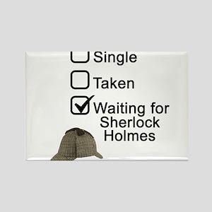 Waiting for Sherlock Rectangle Magnet