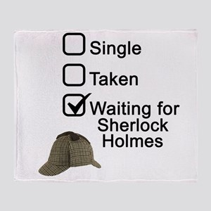Waiting for Sherlock Throw Blanket