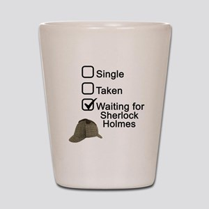 Waiting for Sherlock Shot Glass
