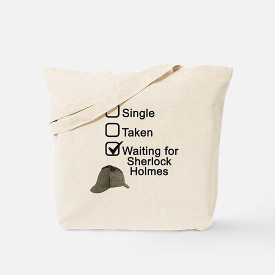 Waiting for Sherlock Tote Bag
