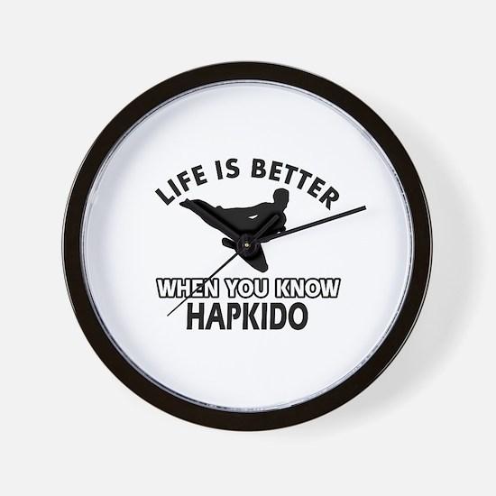 Hapkido Vector designs Wall Clock
